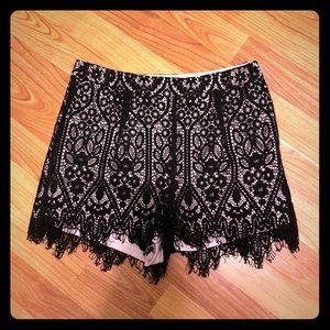 Lacy high waist shorts